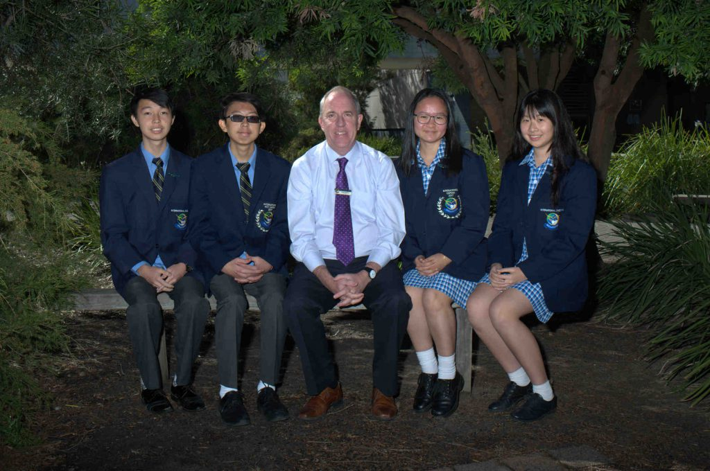Hugh with Students